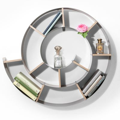 Kare Snail Wall Shelf Silver 75 x 75 x 13 cm