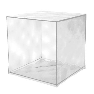 Kartell Optic Container Cube H41cm x W41cm Crystal