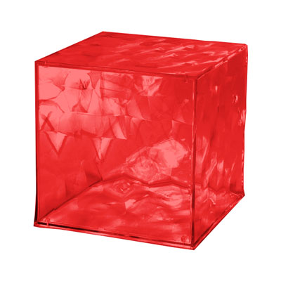 Kartell Optic Container Cube with Door H41cm x W41cm Red