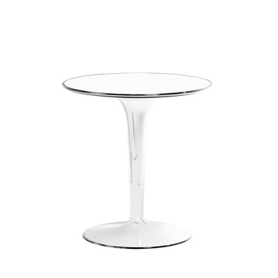 Kartell TipTop Side Table H51cm x 48cm Diameter Glossy White