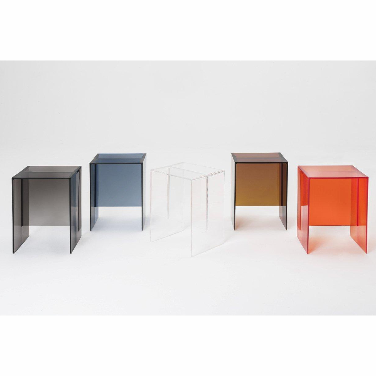 Kartell Max Beam Stool/Side Table H47 x W33 x D27cm Crystal