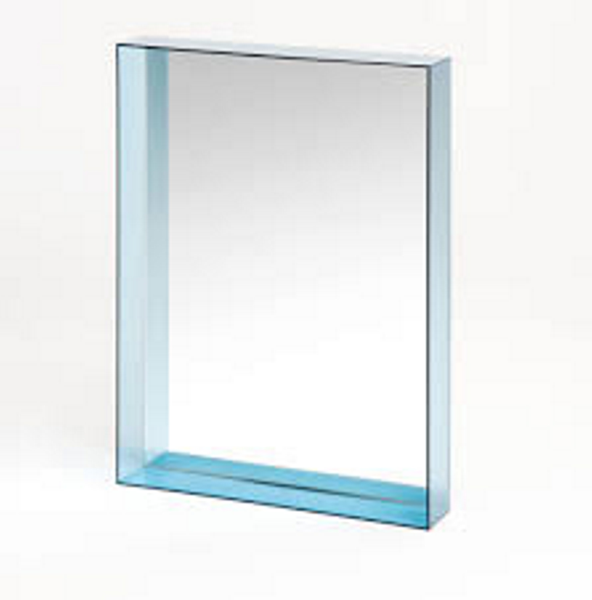 Kartell Only Me Wall Mirrors 50cm x 70cm 50cm x 70cm Azure