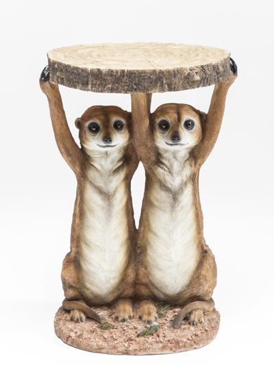 Meerkat Sisters Side Table H52 x W35 x D33 cm