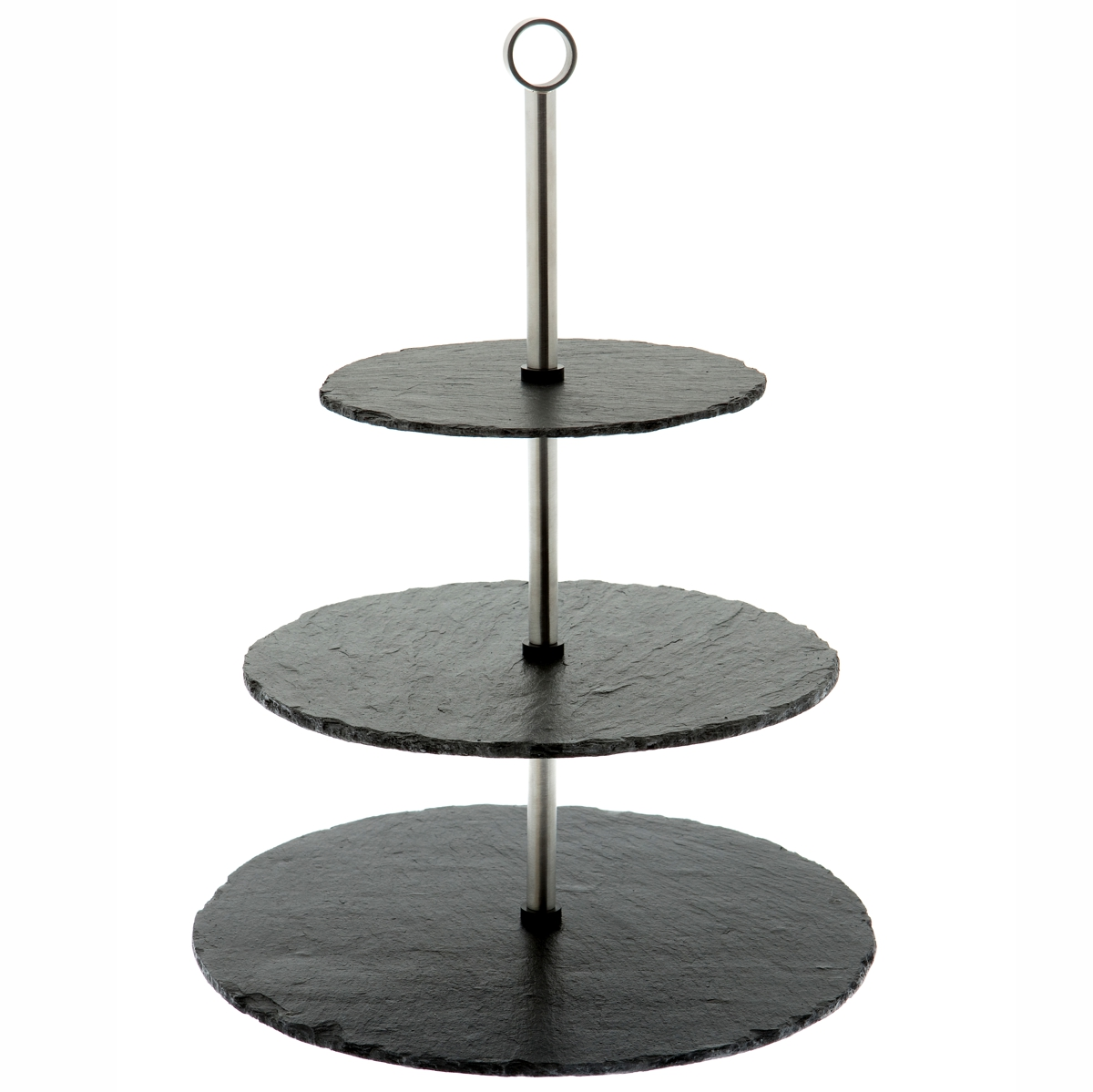 Natural Hand Cut 3 Tier Slate Cake Stand
