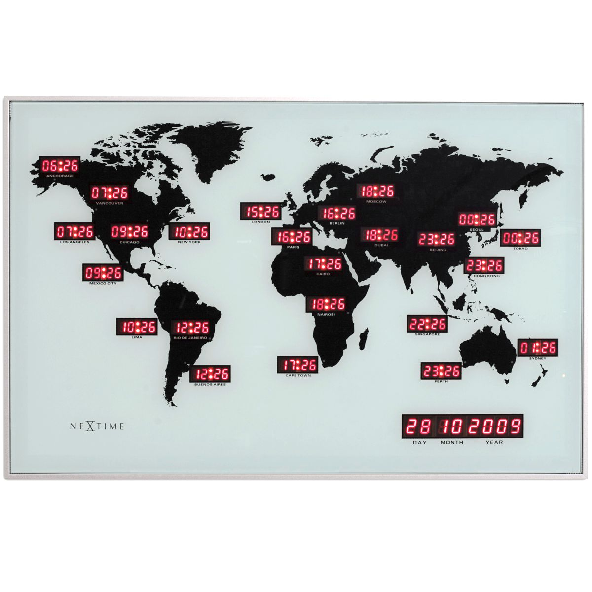 Nextime World LED Clock