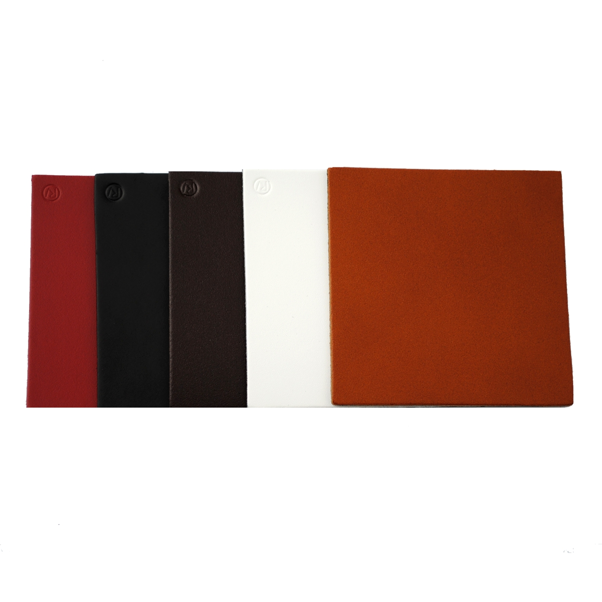 Real Leather Hide SQUARE Coasters