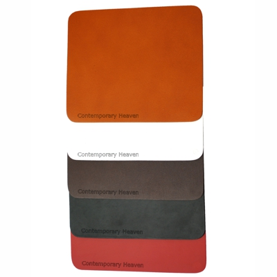 Branded Leather Personalised Custom  Mouse Mat  L21cm x H17.5cm