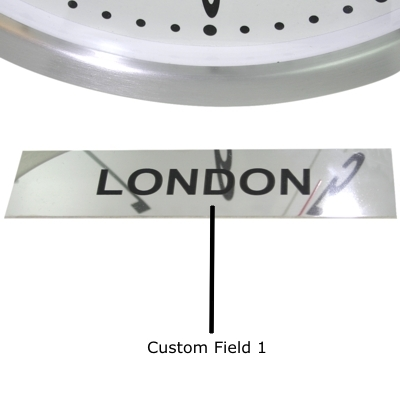 Custom Polished Stainless Steel Sign 17cm x 4cm