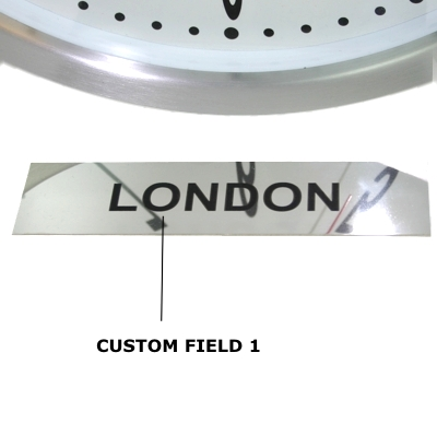 Custom Polished Stainless Steel Signs 17cm x 4cm