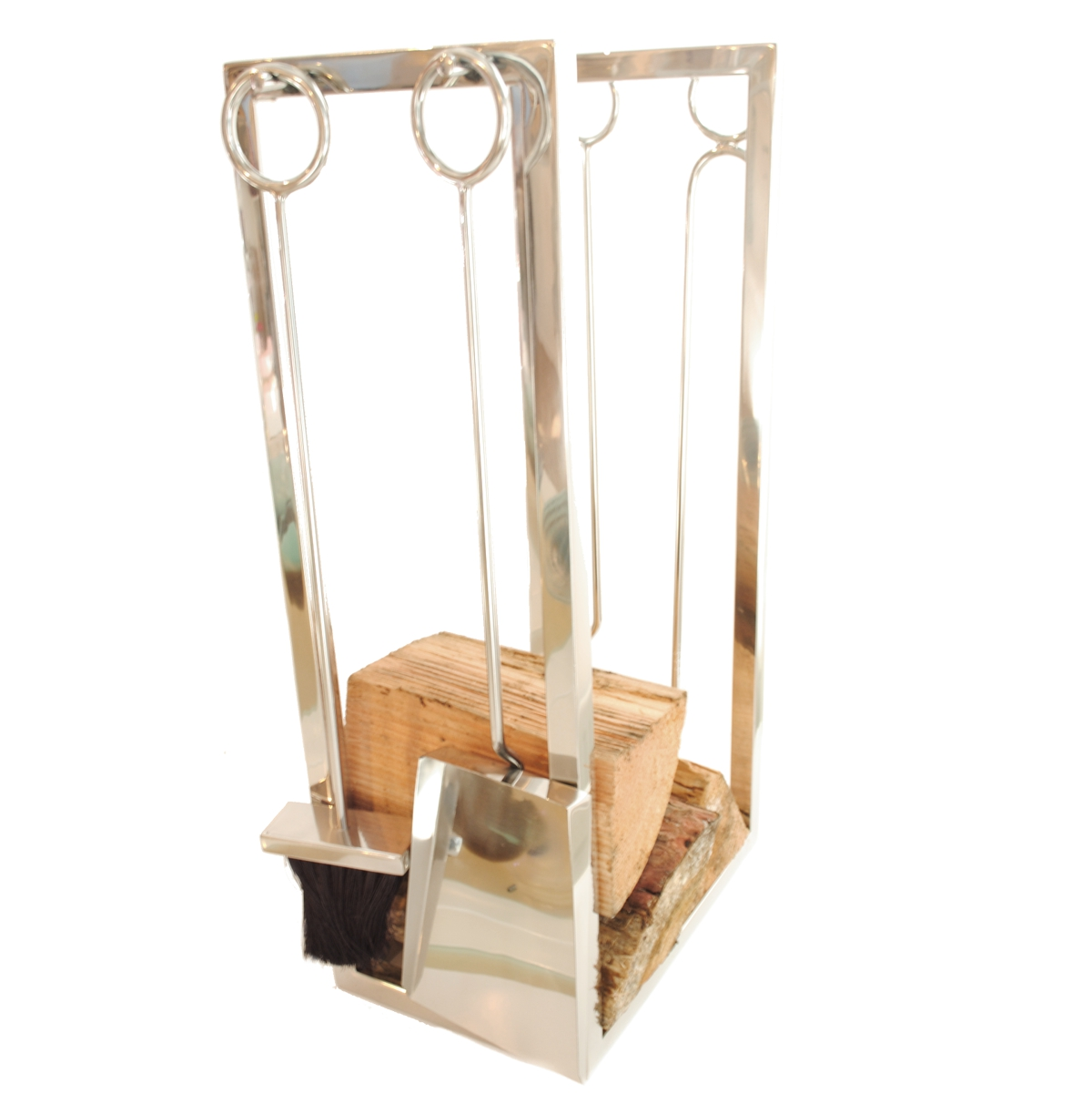 Roco Verre Fireside Tool Set and Log Basket