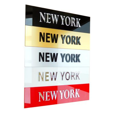 Personalised Time Zone Sign Plaques SMALL 45mm x 175mm