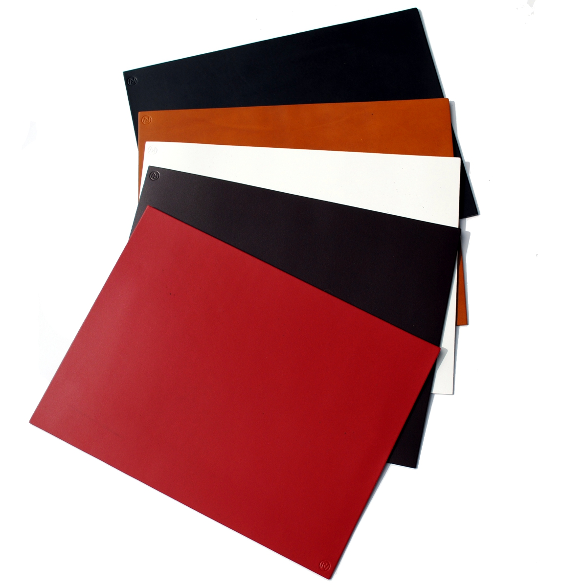 Roco Verre Real Leather Hide Rectangle Placemats