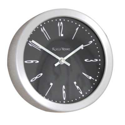 Roco Verre 18cm Classic Clocks 18cm Diameter Black Numbers