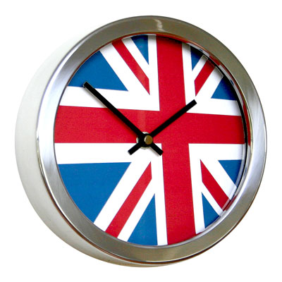 Roco Verre Abstract Flag Clocks 26cm 26cm Diameter UK