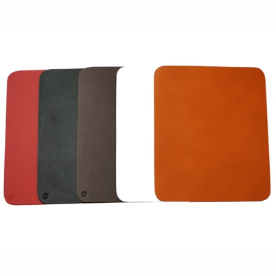 Roco Verre Real Leather Hide Mouse Mat Cherry Red L21cm x H17.5cm