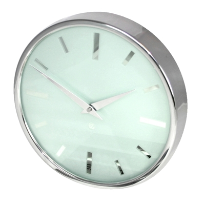 Roco Verre Swiss Empire Polished Clock 26cm Dia