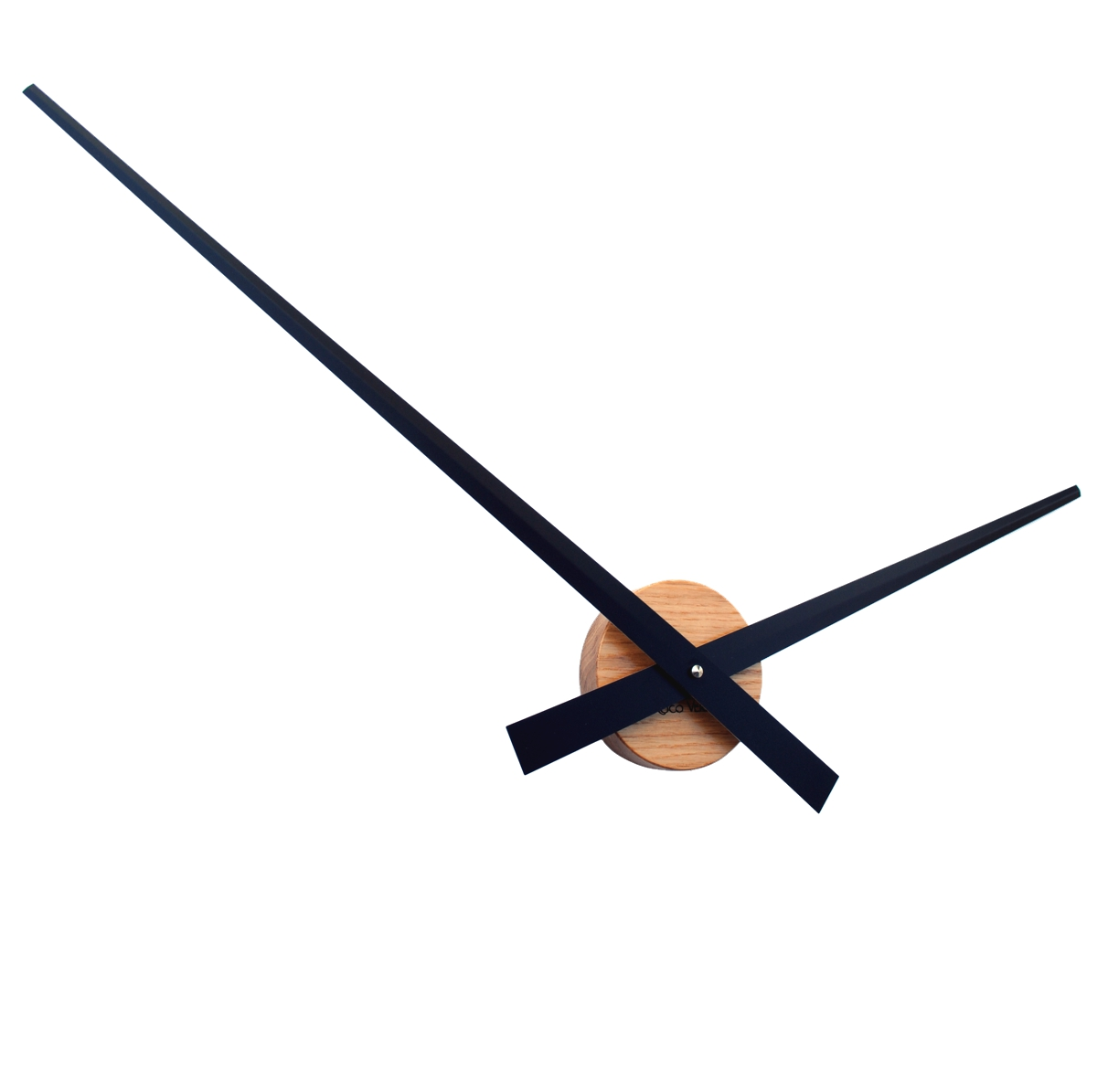 Uk Roco Verre Modern Solid Oak Big Hands Wall Clock