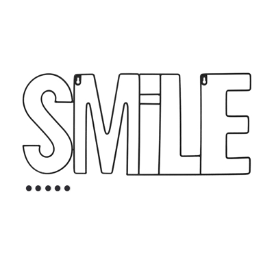 Smile Magnetic Photo Display Black 26 x 59.5 x 0.5 cm