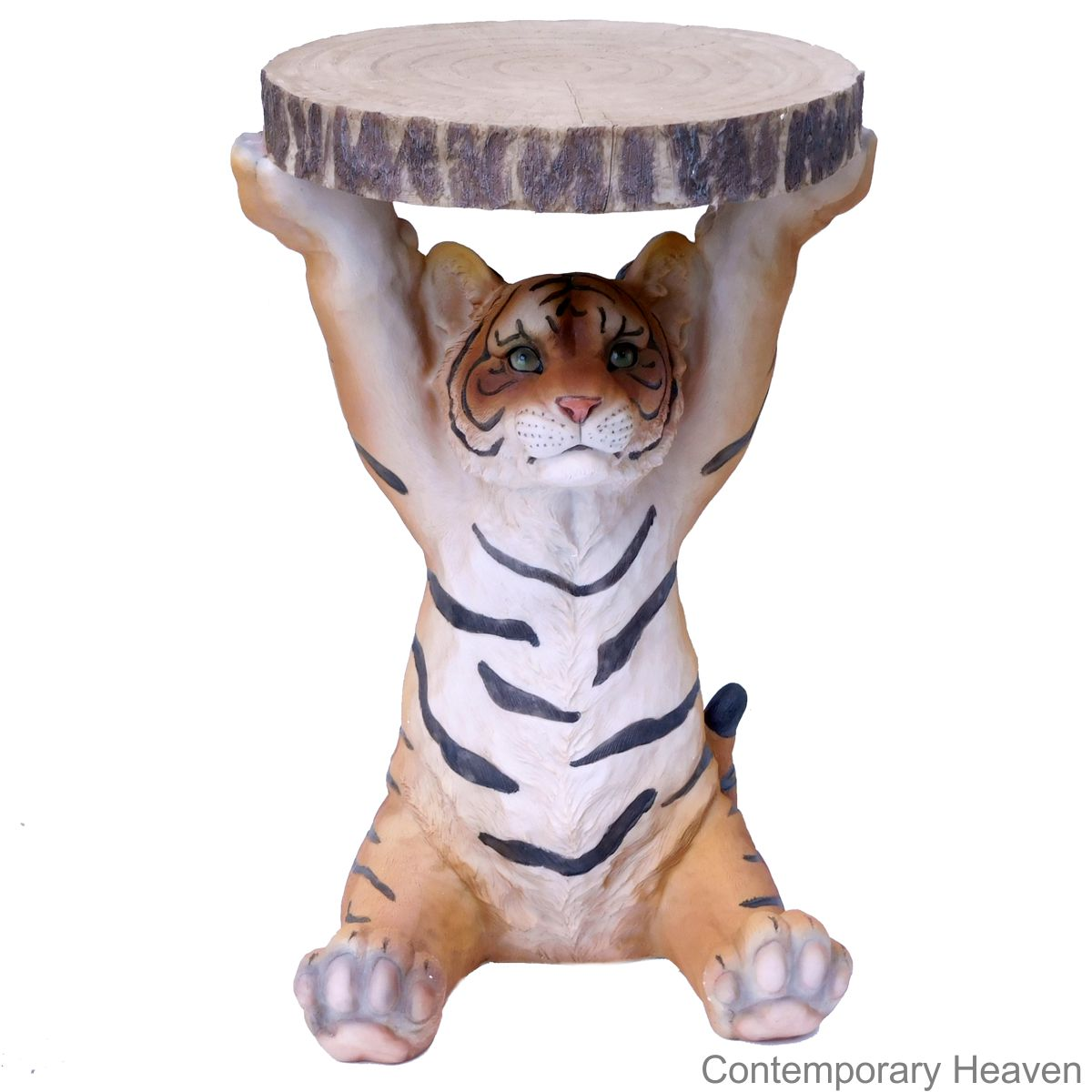 Tiger Side Table H52 x W35 x D32cm