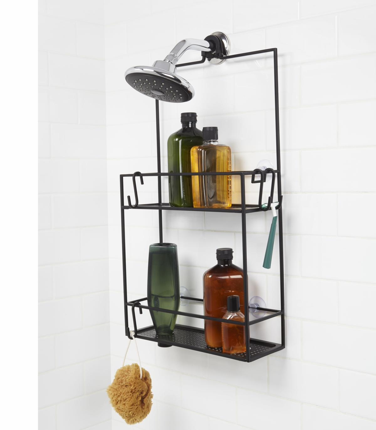Umbra Cubiko 2 Tier Shelf Shower Caddy Black 12.7 x 30.5 x 52 cm