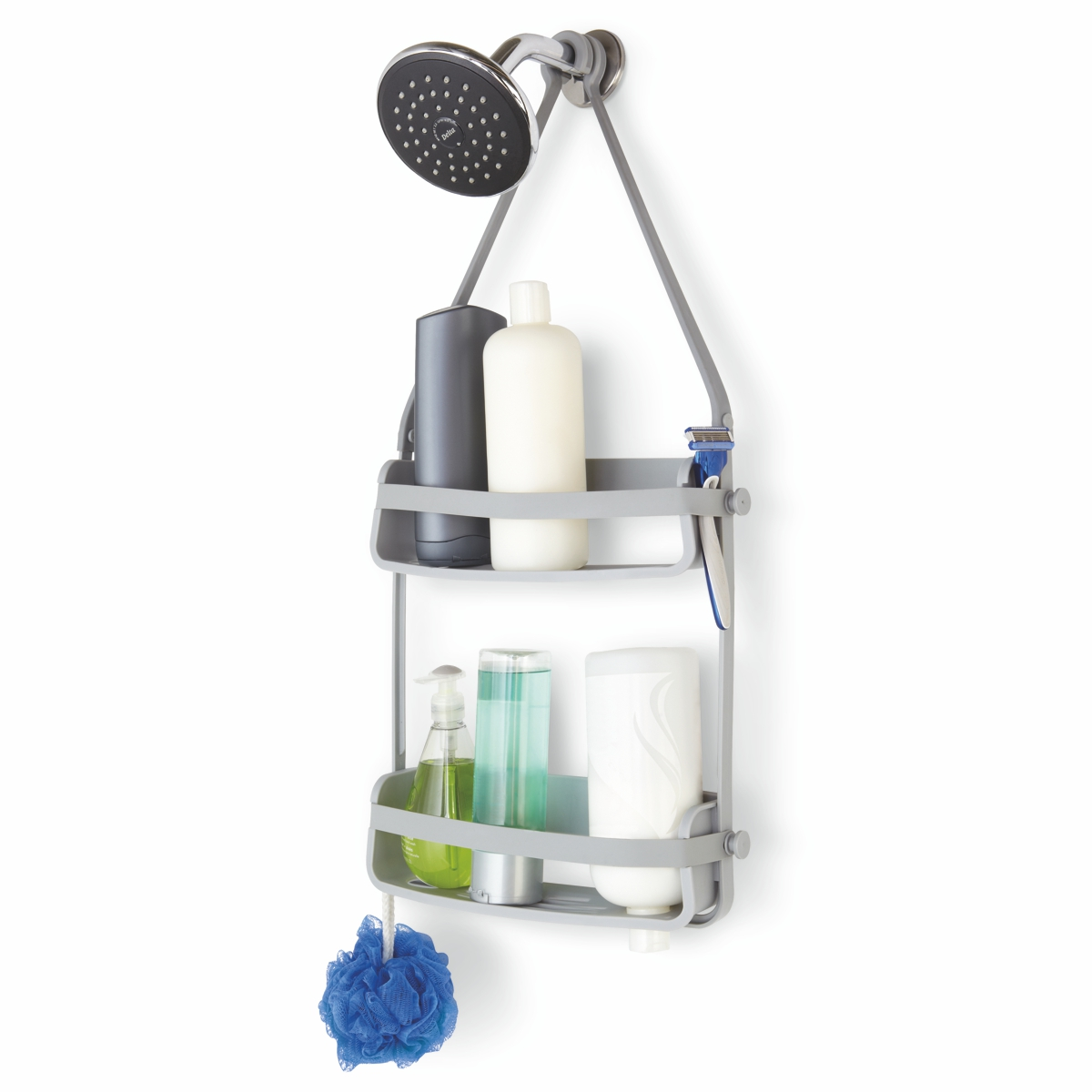 Umbra Flex Shower Caddy Grey 9.5 x 31.8 x 64.8 cm