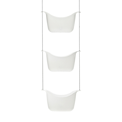 Umbra Bask Three Tier Shower Caddy White 27.9 x 91.4 x 12.7 cm