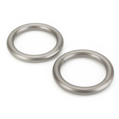 Umbra Halo Curtain Holdbacks Set of 2 Brushed 12 cm Diameter