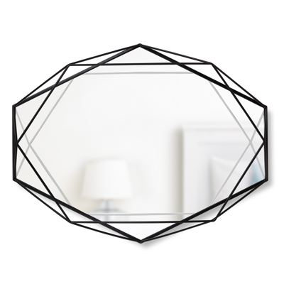 Umbra Prisma Wall Mirror Black 56.5 x 42.5 x 8.3 cm