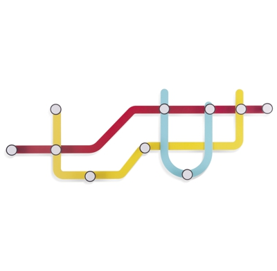 Umbra Subway Multi Hook Coat Hooks 57.8cm x 3.8cm x 20.3cm