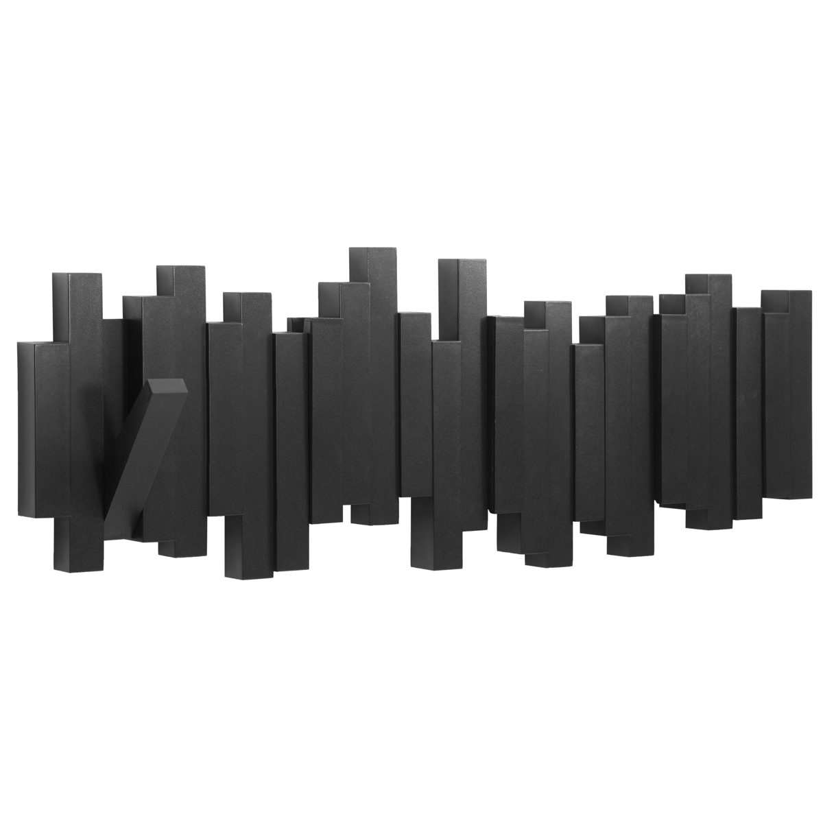 Umbra Sticks Multi Hook Black 48.3 x 18.4 x 2.5 cm
