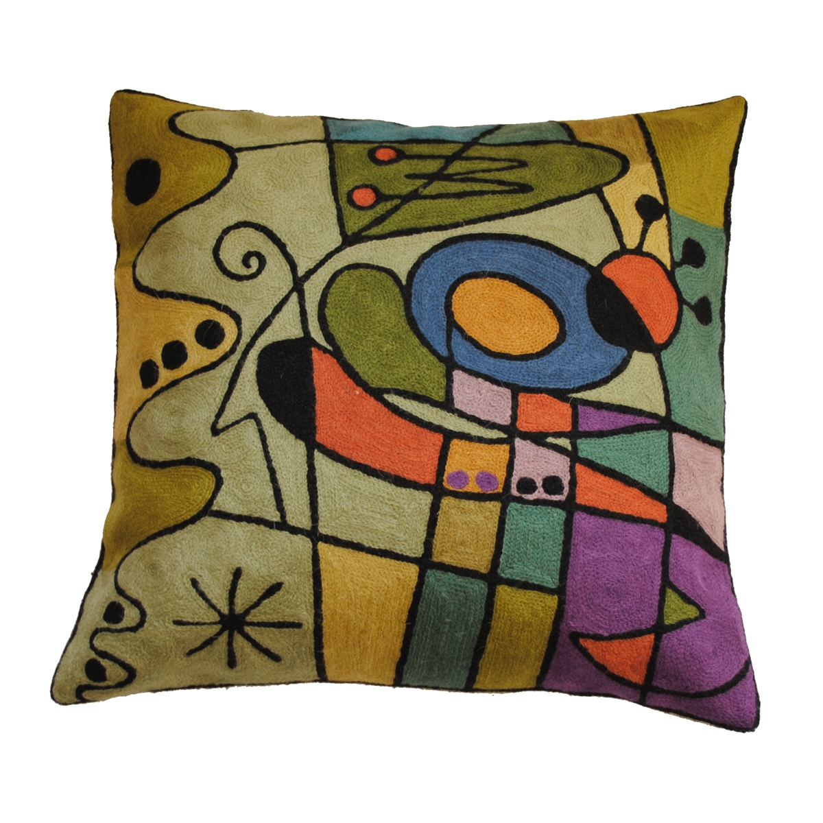 "Zaida Kandinsky Purple Carnival Cushion 18""  45cm x 45cm (18 x 18 inches)"