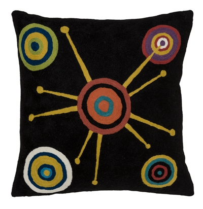 "Zaida Stellar Black Cushion 18""  45cm x 45cm (18 x 18 inches)"
