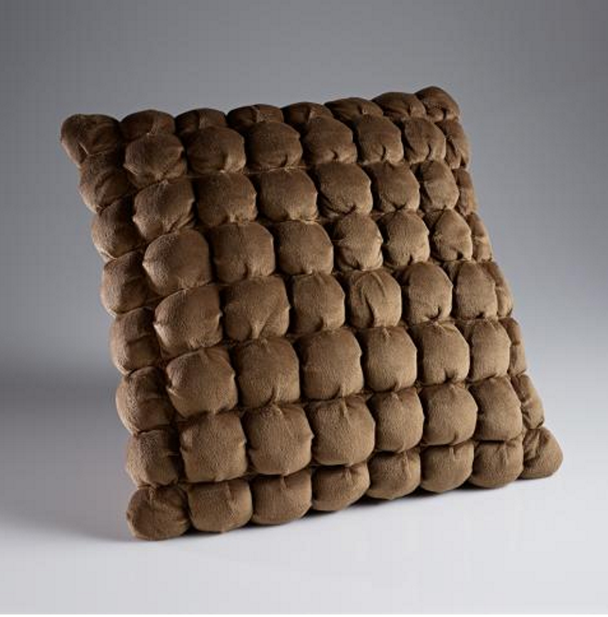 Dreamweavers Italian Square Cushion 45cm x 45cm (18 x 18 inches) Chocolate