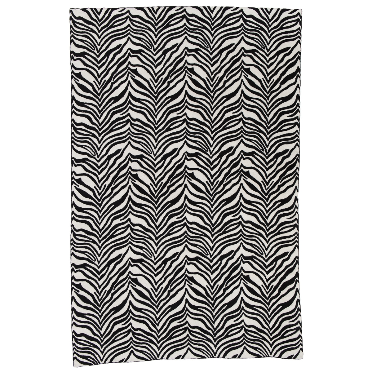Zaida Black and White Zebra Rug 180cm x 120cm (6ft x 4ft)