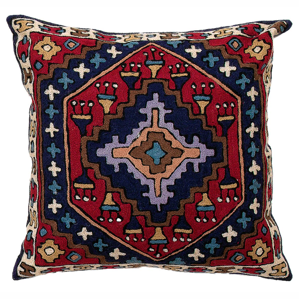 "Zaida Kilim Cushion 18"" 45cm x 45cm (18 x 18 inches)"