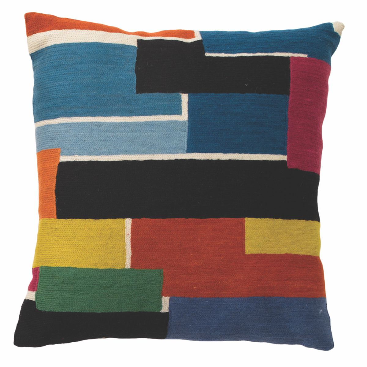 "Zaida Multi Colour Bricks Cushion 18"" 45cm x 45cm (18 x 18 inches)"